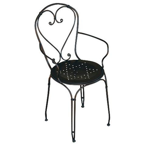 chaise de jardin noir en fer