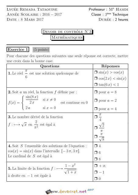 Meilleur De Devoir Maison De Math 3eme Corrige Equation And Photos Sheet Music Inspiration Music