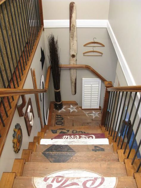 How cool are these stairs made out of old crates?