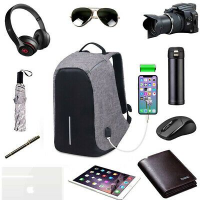 Hot Anti Theft Smart School College Travel Backpack Safe Bag USB Charging Laptop