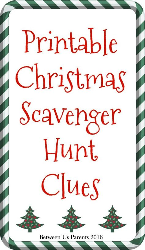 Here are festive printable Christmas Scavenger Hunt Clues that you can use for holiday fun. Make your family work to find their gifts! Christmas Morning, Winter Christmas, Christmas Crafts, Christmas Ideas, Christmas Parties, Merry Christmas, Work Christmas Party Games, Christmas Letters, Amazon Christmas