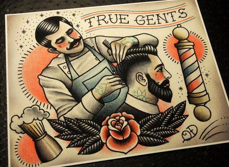 Verdaderos caballeros tatuaje impresión