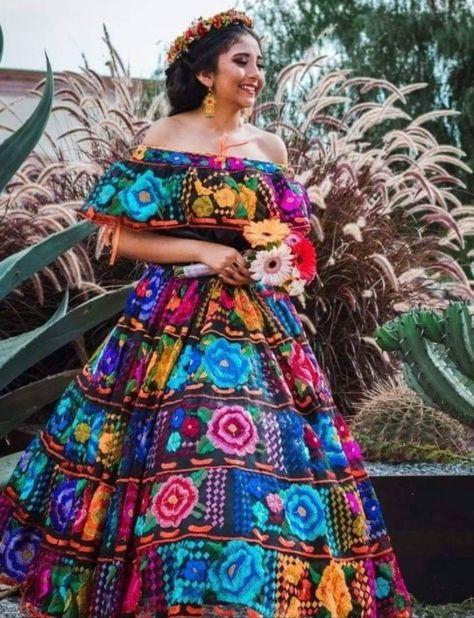 Mexican Dress. Custom-made. Chiapas Original Hand Embroidered | Etsy