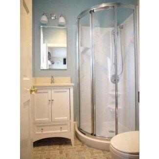 Corner Shower For Small Bathroom Visual Hunt Small Full Bathroom Bathroom Remodel Designs Small Basement Bathroom
