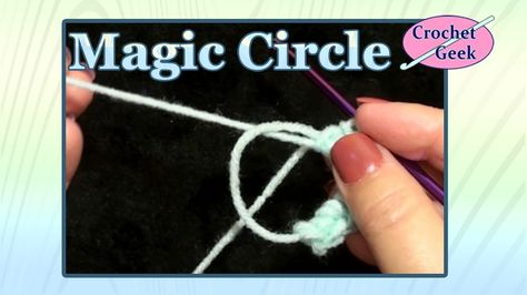 Magic Circle Loop With Single Crochet Simple Crochet Crochet