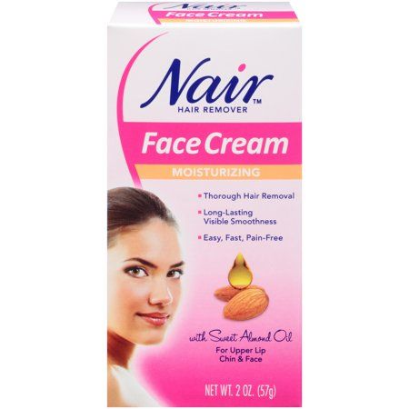 Nair Hair Remover Moisturizing Face Cream With Sweet Almond Oil 2oz Walmart Com In 2020 Face Cream Moisturizing Face Cream Hair Removal Cream