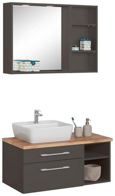 Waschtisch Set Davos Set 3 Tlg Mit Regal Und Spiegel