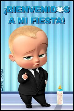 Invitacion De Cumpleanos El Bebe Jefazo Bonus Gratis Aniversario De Menino Festa De Aniversario Para Meninos Festa Infantil