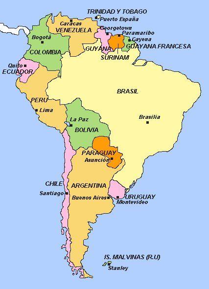 Mapa De Sudamerica Paises.Mapa Politico De Oceania Paises Y Capitales Imagui