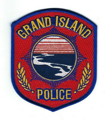 Us State Of Nebraska City Of Grand Island Police Department Patch Police Patches Grand Island New York Grand Island