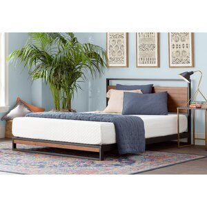 Island Estates Standard Bed Mattress Sizes Gel Memory Foam Mattress Upholstered Platform Bed