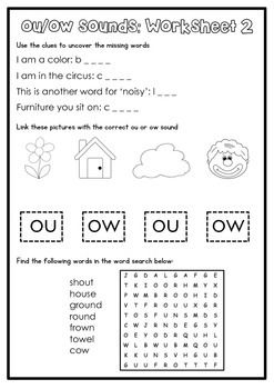 Digraph Activity Sheet: ou/ow   Teacher Things   Phonics worksheets ...