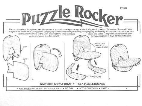Super Puzzle Rocker Chair Woodwork Rocking Chair Plans Diy Uwap Interior Chair Design Uwaporg