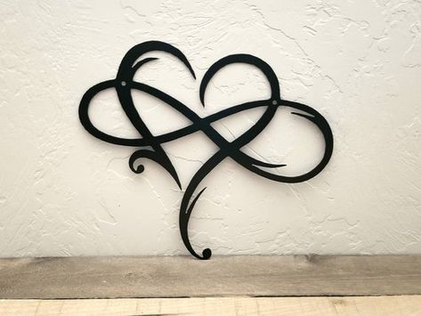 Infinity Sign Metal Wall Art Metal Infinity Symbol and Heart