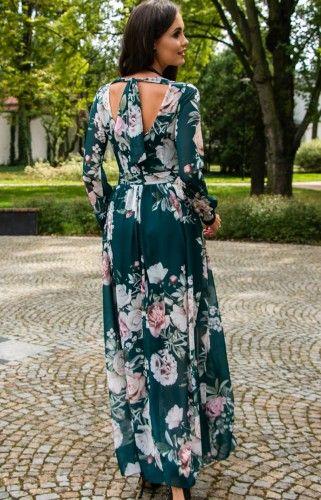 Dluga Sukienka W Kwiaty Roco 0219 D45 Dresses Fashion Maxi Dress