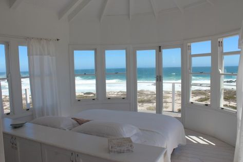 If I could wake up here ... Lovely white bedroom with gorgeous sea view. #bedroomgoals
