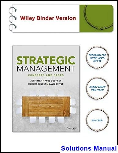 Strategic Management Concepts And Cases 1st Edition Dyer