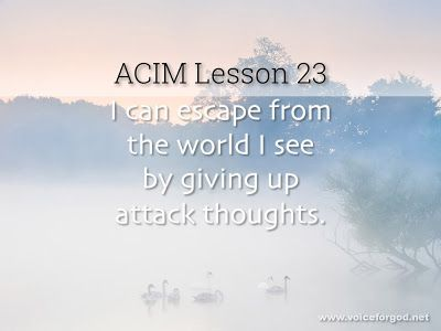 Acim Workbook Lesson 23 Lesson Workbook