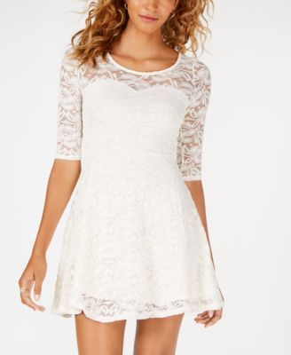 Juniors Lace Sweetheart Dress Created For Macy S Macys Com Sweetheart Dress Girls White Dress Short Wedding Dress Vintage