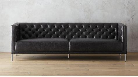 Shop savile leather sofa. We edged up the classic ...
