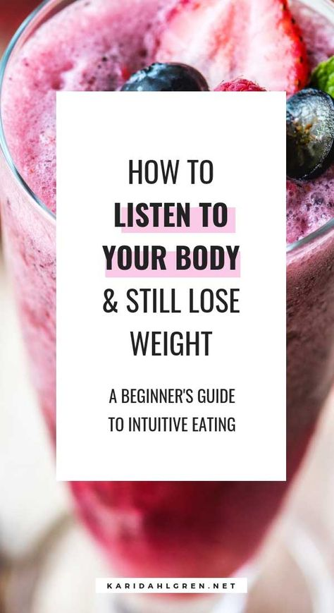 Intuitive eating | listen to your body | anti diet