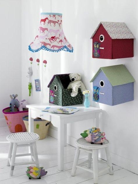 birshouses on the wall love it kid s s room decorative bird rh pinterest com
