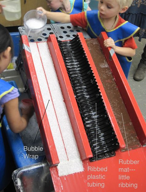 Water ramp with different surfaces - an extension on the water table and water ramp.