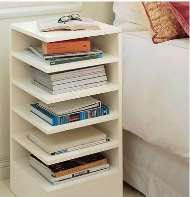 Bedside bookshelf | diy | Pinterest | Bedrooms, Organizing and Organizations