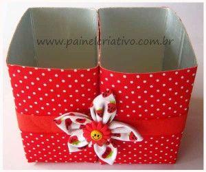 Bau Da Tia Sonia Reciclagem Caixa De Leite Carrinhos De Croche