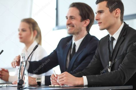 Speakers At Business Meeting Stock Photo Sponsored Business