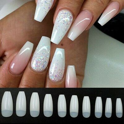 500pcs Ballerina Coffin Nails Tips Natural Clear White Artificial False Nails Us Ebay Coffin Shape Nails Ballerina Nails Nail Art Hacks