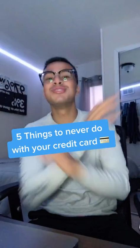 5 Thing to Never do with a Credit Card! 💳