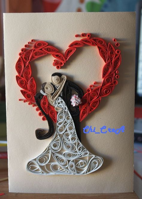 Quilling -Card Home Made-  #card #Home #quilling