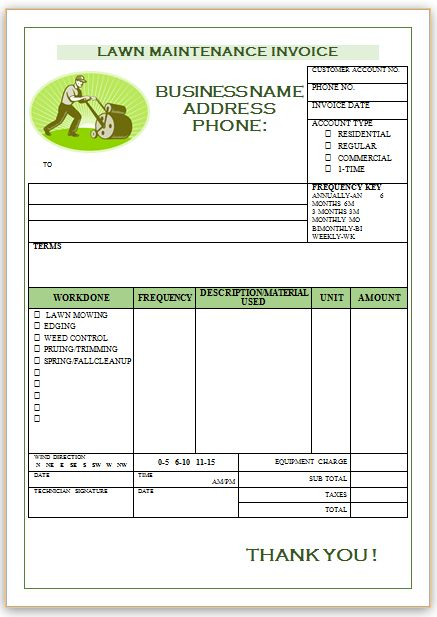 Landscaping Invoice Template 1 Landscaping Invoice Templates - landscaping invoice