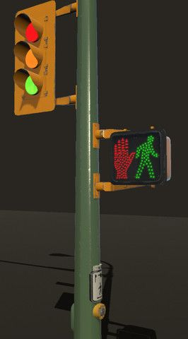 Animating Traffic Lights Street Lamps Signs 3d Exterior Unity Asset Store Traffic Light Street Lamp Sign Photography