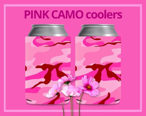 Camo Pink Blank Can Koozies for Personalization DIY Crafts Blank Coozies Camouflage Party Favors #kooziesforwedding Camo pink blank koozies for personalization at home. Blank coozies for #diy arts and crafts. Can koozies for heat transfer or sublimation. The ultimate custom party favor for your friends and family. Great addition to wedding welcome bags for out-of-town guests. Creative bridesmaid and groomsman gift idea! Customize your own #koozies #blankcoozies #partyfavors #diykoozies #weddingk