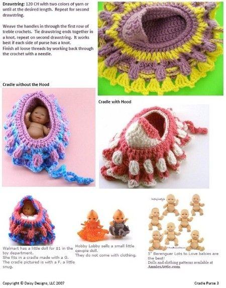 Doll Purse - Free Crochet Pattern– Maggie's Crochet | 573x450