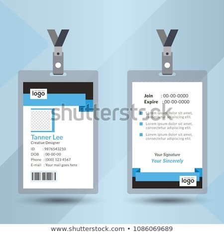 Identification Card With Lanyard Set Isolated Vector Illustration Blank Plastic Access Card Name Tag Holder With Pin Cards Identification Card Security Badge