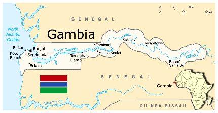 Wanttoknowwhereisgambiamapofcountryandgif - Gambia map