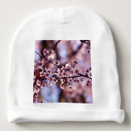 Japanese Cherry Blossom Tree Plant Love Botanical Baby Beanie Accessories Accessory Gift Idea Styl Japanese Cherry Blossom Trees To Plant Cherry Blossom Tree