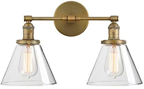 Phansthy Double Sconce Antique Industrial Wall Sconce Light With Dual 7 3 Inch Cone Canopy Antique A In 2020 Industrial Wall Sconce Industrial Wall Lights Sconces