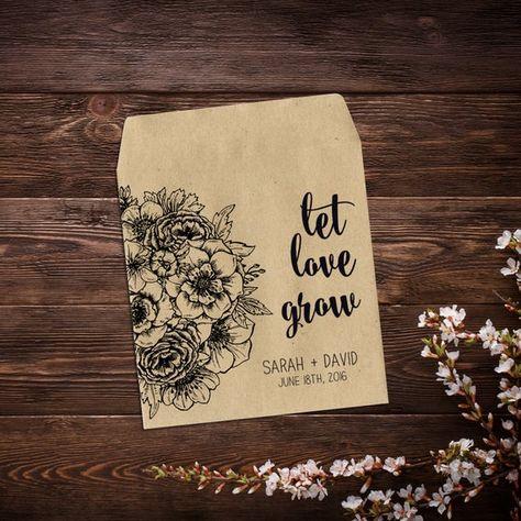 Wedding Seed Packets, Rustic Wedding Favor, #seedpackets #seedfavors #weddingfavors #weddingseedfavor #wildflowerseeds #letlovegrow #letlovebloom #weddingseedpackets #rusticwedding #bohowedding #seedpacketfavor #rusticfavor #flowerseedpacket