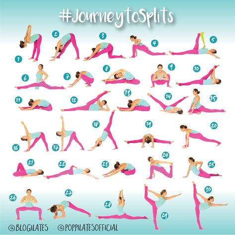 30 Days & 30 Stretches to Splits! #JourneytoSplits-I may not do the splits but these look like some great stretches!