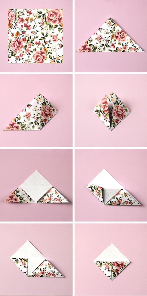 Never lose your page again by learning to fold these easy origami triangle corner bookmarks. Perfect if you're heading back to school. Origami Design, Diy Origami, Origami Ball, Origami Simple, How To Make Origami, Paper Crafts Origami, Useful Origami, Paper Crafting, Dollar Origami