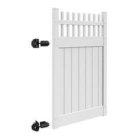 Freedom Canterbury White Vinyl Semi Privacy Vinyl Fence Gate Common White Vinyl Fence Vinyl Fence Fence Gate