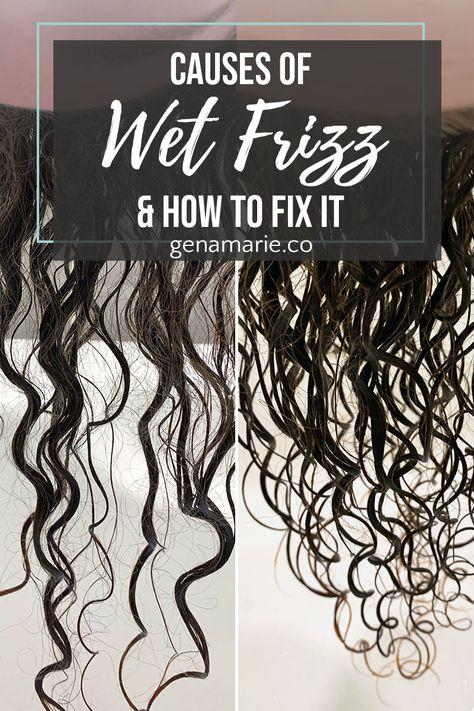 Wet And Wavy Hair, Dry Frizzy Hair, Wavy Hair Care, Hair Frizz, Curly Hair Tips, Curly Hair Styles, Thinning Hair, Hair Dos, Long Hair