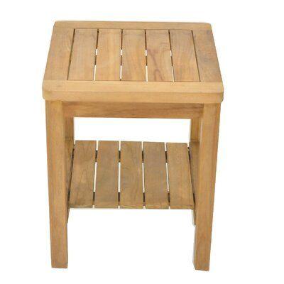 Bayou Breeze Whitaker Grade A Teak Wood Shower Bench Wood Shower Bench Teak Wood Corner Shower Seat