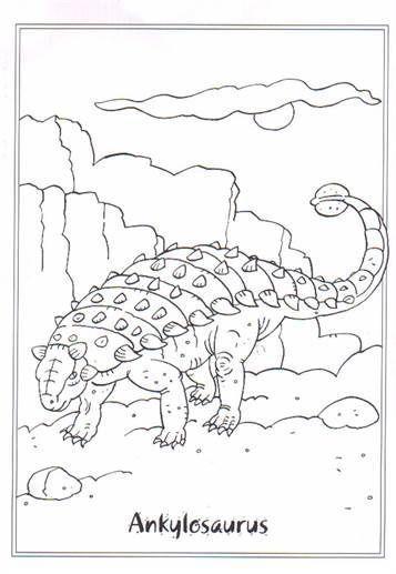 ausmalbilder dinosaurier ankylosaurus