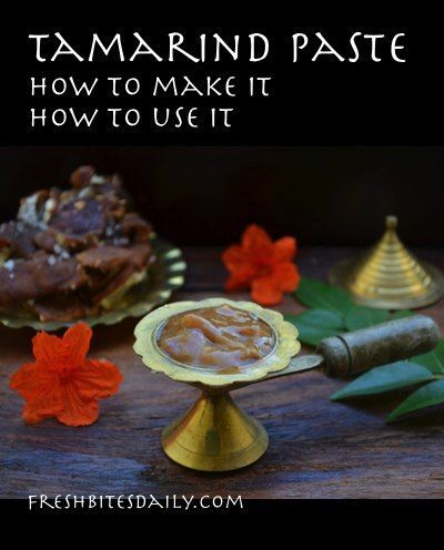 Tamarind Paste How To Make It And Use It In A Lesson From India Tamarind Paste Tamarind Paste Recipes Tamarind