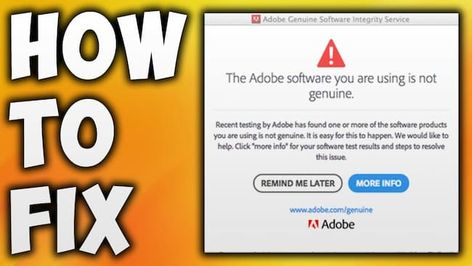 """How to Fix """"Adobe Genuine Software Integrity Service"""" Easily"""